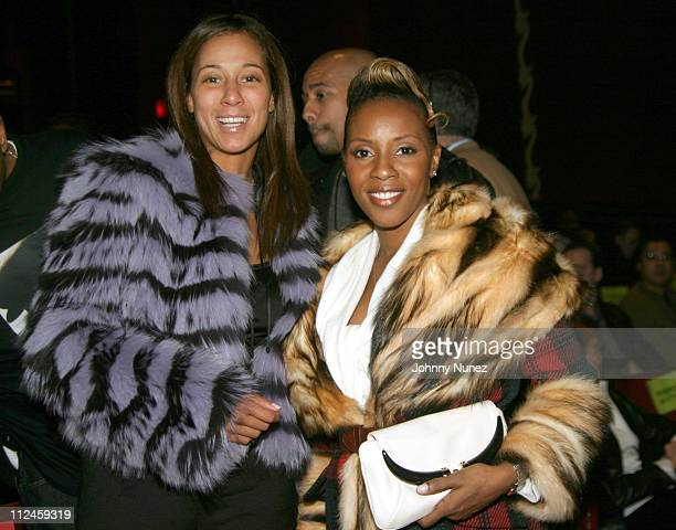 Tracey Waples of Bad Boy and June Ambrose during 'JayZ Fade to Black' New York City Premiere Inside at Ziegfeld Theater in New York City New York...
