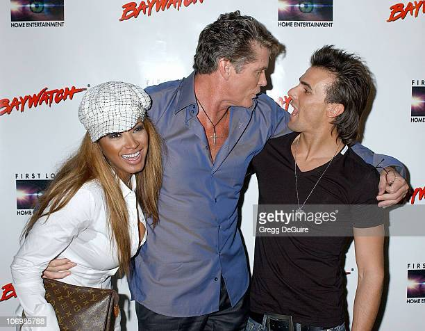 Traci Bingham David Hasselhoff and Jeremy Jackson