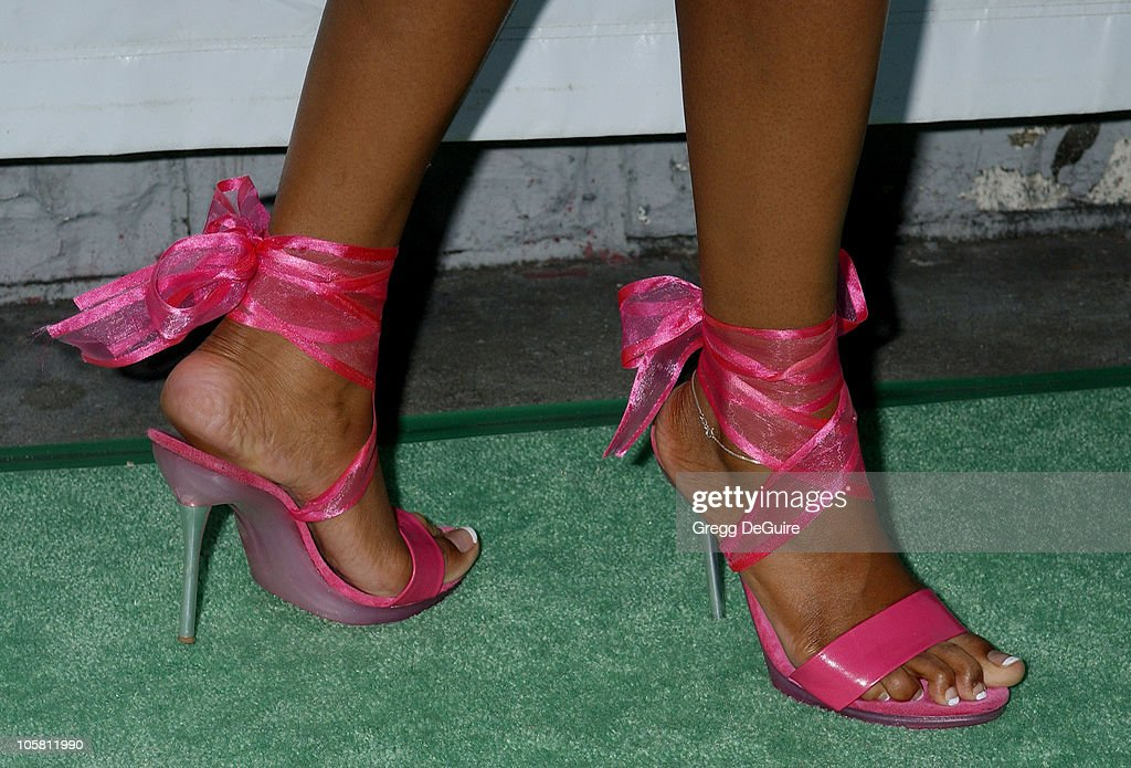 Traci Bingham's shoes during 11th Annual Angel Awards - Arrivals at Project Angel Food in Los Angeles, California, United States.