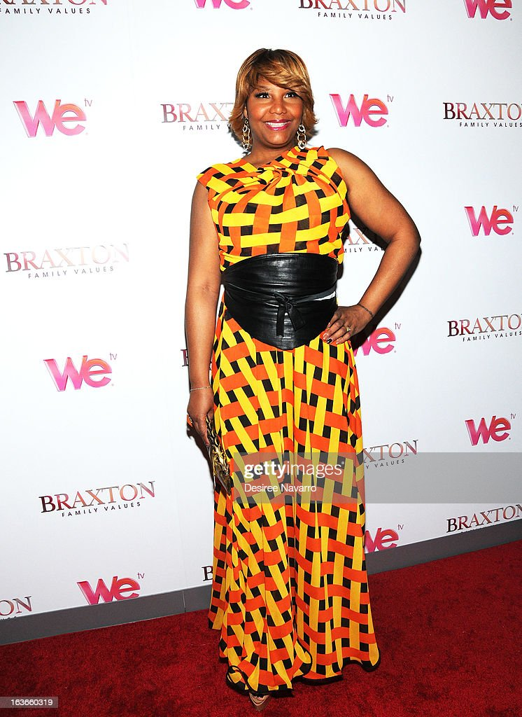 Traci Braxton attends the 'Braxton Family Values' Season Three premiere party at STK Rooftop on March 13, 2013 in New York City.