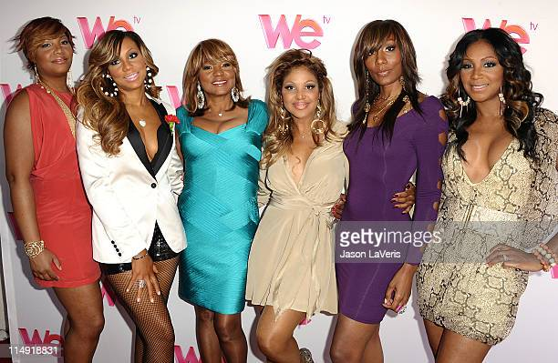 Traci Braxton Tamar Braxton Evelyn Braxton Toni Braxton Towanda Braxton and Trina Braxton attend the WE TV series 'Braxton Family Values' reunion...