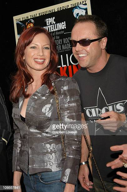 Traci Lords and Lars Ulrich of Metallica during 'Metallica Some Kind of Monster' New York Premiere Arrivals at Loews 19th Street Theatre in New York...