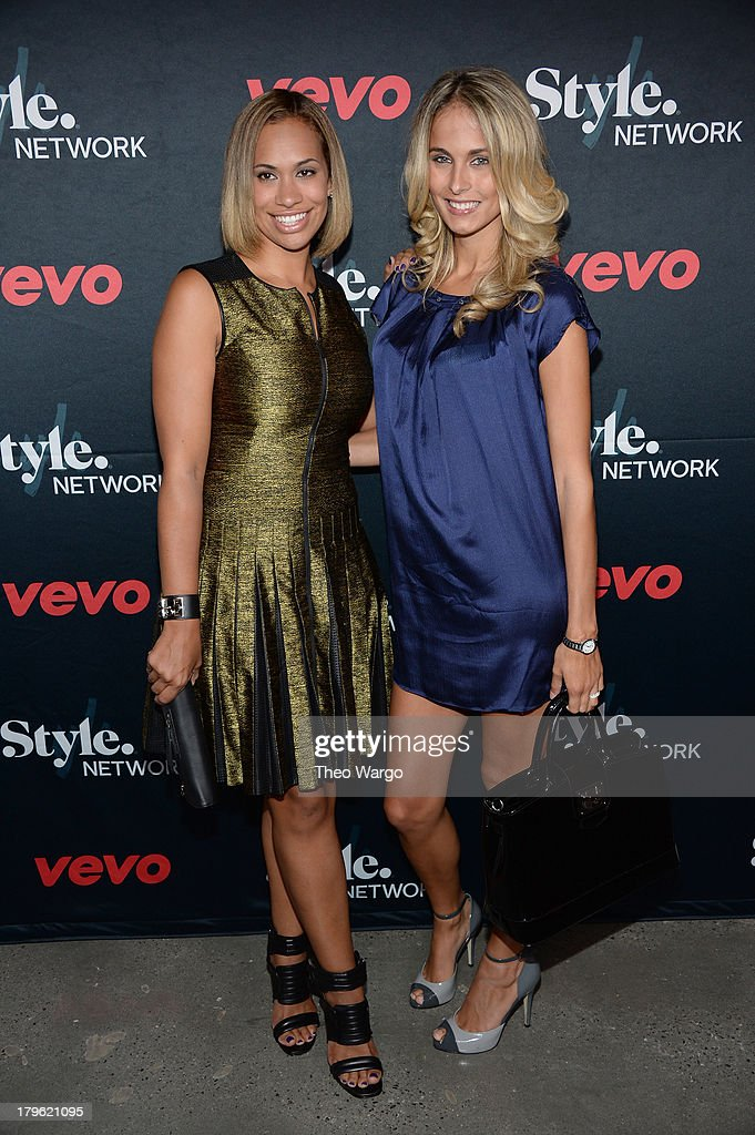 Traci Lynn Johnson (R) and Amber Sabathia attend the VEVO and Styled To Rock Celebration Hosted by Actress, Model and 'Styled to Rock' Mentor Erin Wasson with Performances by Bridget Kelly & Cazzette on September 5, 2013 in New York City.