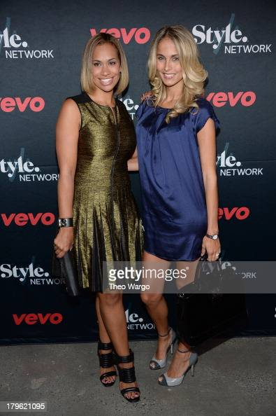 Traci Lynn Johnson and Amber Sabathia attend the VEVO and Styled To Rock Celebration Hosted by Actress Model and 'Styled to Rock' Mentor Erin Wasson...