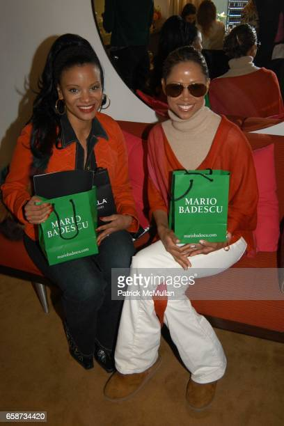 Traci Melchor and Stacy Dash attend the Boudoir Oscar Suite Sponsored by Mario Badescu Vidal Sassoon and Creative Mail Design at the Chateau Marmont...