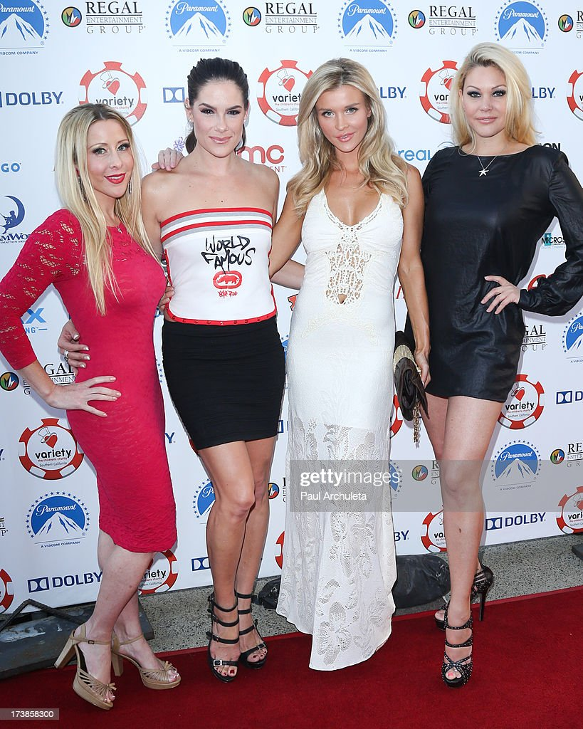 Traci Szymanski, Tiffany Michelle, Joanna Krupa and Shanna Moakler attend the 3rd annual Variety Charity Texas Hold 'Em Tournament & Casino Game at Paramount Studios on July 17, 2013 in Hollywood, California.