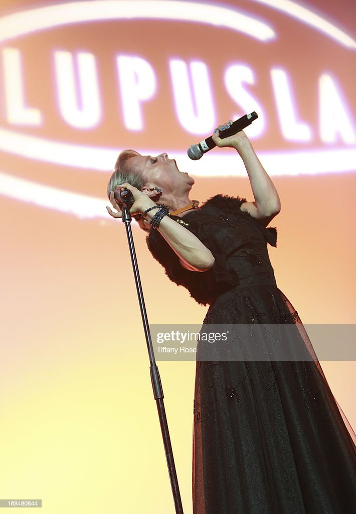 <a gi-track='captionPersonalityLinkClicked' href=/galleries/search?phrase=Tracie+Bennett&family=editorial&specificpeople=2978909 ng-click='$event.stopPropagation()'>Tracie Bennett</a> performs at Lupus LA Orange Ball at the Beverly Wilshire Four Seasons Hotel on May 9, 2013 in Beverly Hills, California.