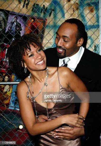 Tracie Thoms and Jesse L Martin during 'Rent' New York City Premiere After Party at Roseland Ballroom in New York City New York United States