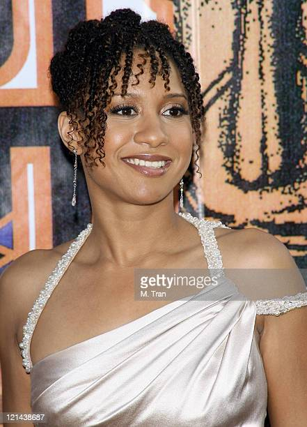 Tracie Thoms during 21st Annual Soul Train Music Awards Arrivals at Pasadena Civic Auditorium in Pasadena California United States