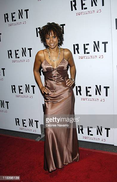 Tracie Thoms during ''Rent'' New York City Premiere Arrivals at Ziegfeld Theater in New York City New York United States