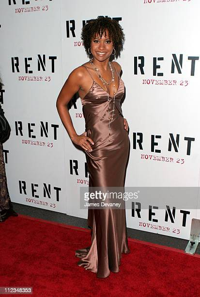 Tracie Thoms during 'Rent' New York City Premiere Inside Arrivals at Ziegfeld Theater in New York City New York United States