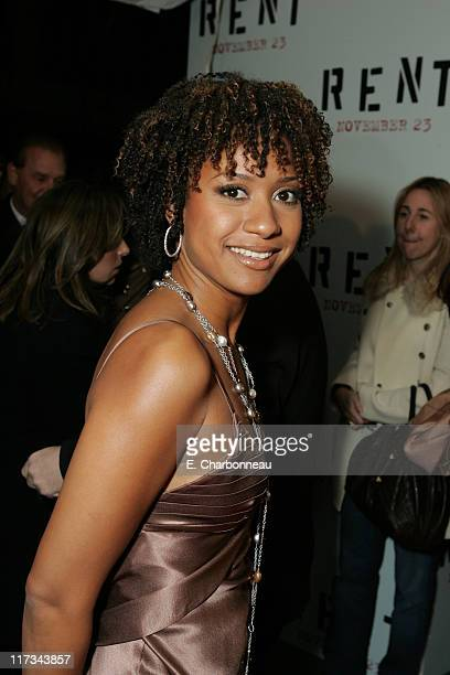 Tracie Thoms during Revolution Studios' and Columbia Pictures' World Premiere of 'Rent' at Ziegfeld Theatre/Roseland in New York City New York United...