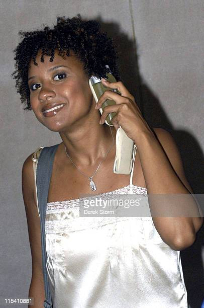 Tracie Thoms during The Cast of the Movie 'Rent' Performs on the 'Today Show' 2005 Summer Concert Series at Rockefeller Plaza in New York City New...