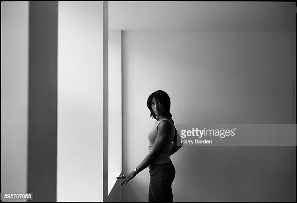 Track and field athlete and tv presenter Denise Lewis is photographed for the BBC on March 11 2000 in London England