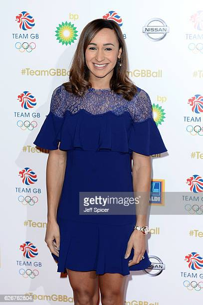 Track and field athlete Jessica EnnisHill attends the Team GB Ball at Battersea Evolution on November 30 2016 in London England