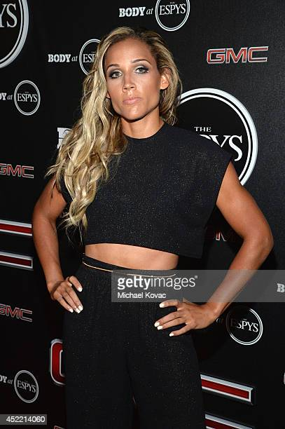Track and field athlete Lolo Jones attends the Body at ESPYS PreParty at Lure on July 15 2014 in Hollywood California