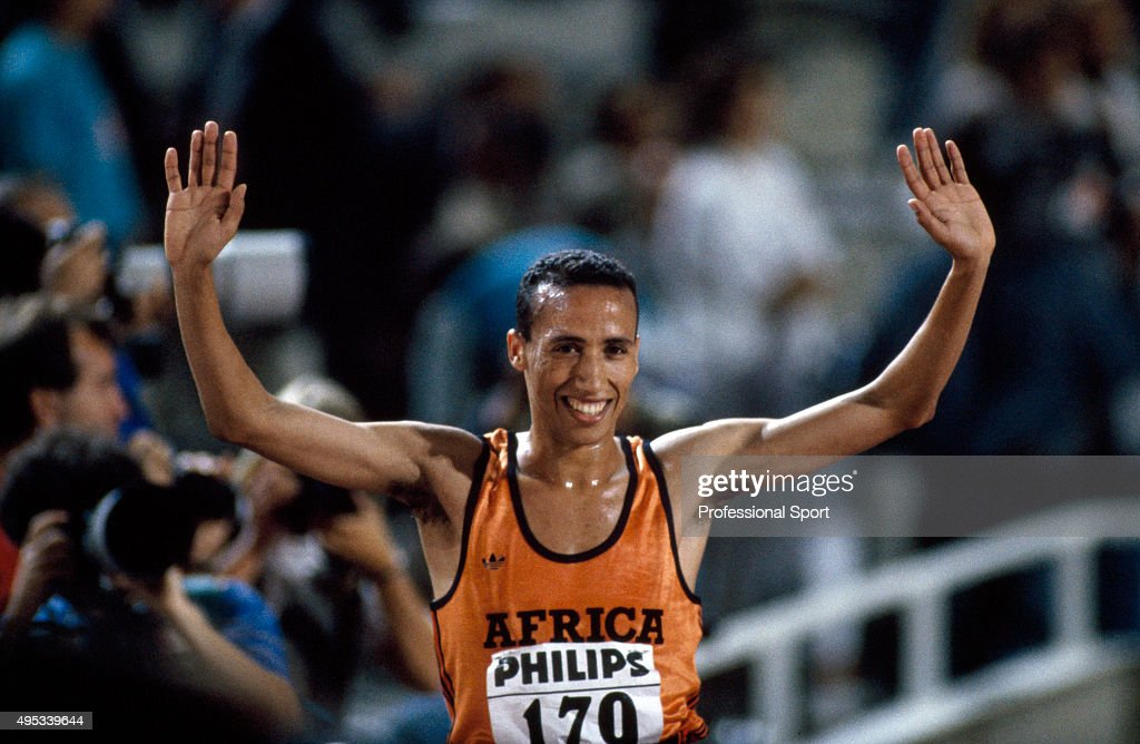 Track and field athlete Said Aouita of Morocco circa 1989
