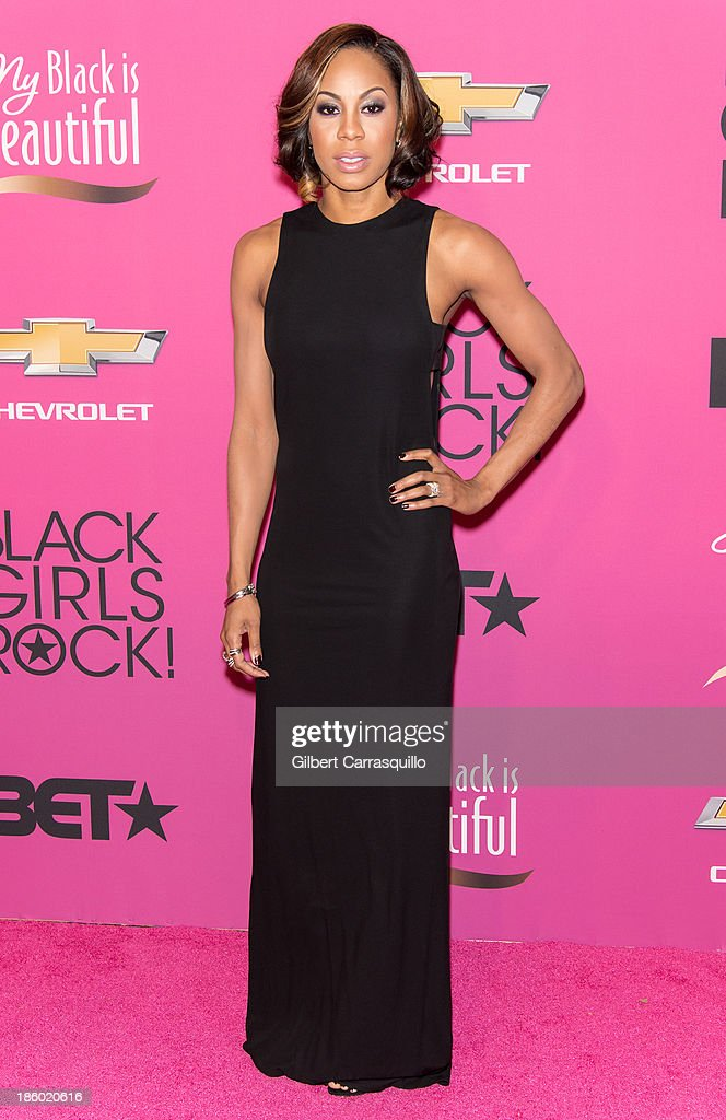 Track and Field athlete Sanya Richards-Ross attends Black Girls Rock! 2013 at New Jersey Performing Arts Center on October 26, 2013 in Newark, New Jersey.