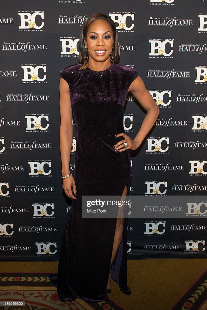 Track and Field Athlete Sanya Richards-Ross attends the Broadcasting and Cable 23rd Annual Hall of Fame Awards Dinner at The Waldorf Astoria on October 28, 2013 in New York City.