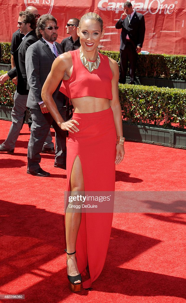 Track and field runner Lolo Jones arrives at the 2014 ESPY Awards at Nokia Theatre L.A. Live on July 16, 2014 in Los Angeles, California.