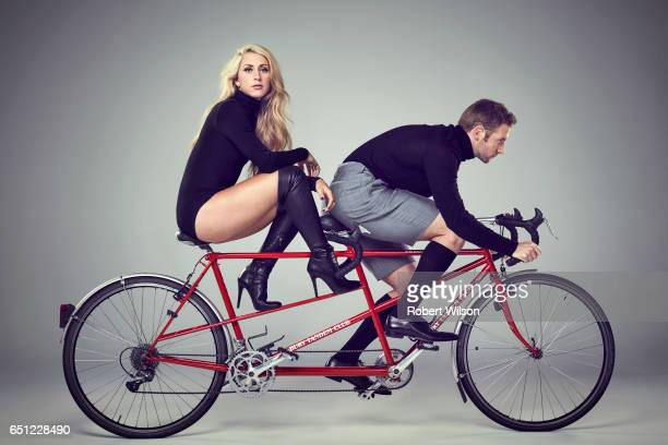Track and road cyclists Laura Trott and Jason Kenny are photographed for the Times on November 2 2016 in London England
