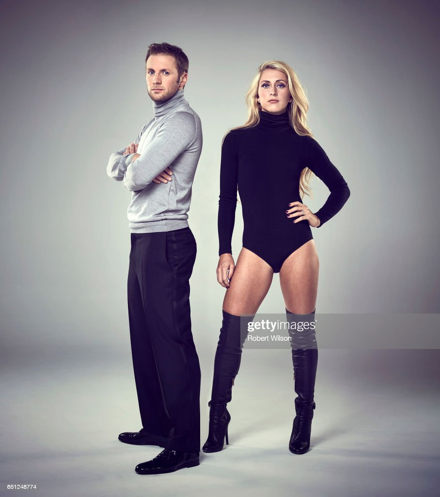Track and road cyclists Laura Trott and Jason Kenny are photographed for the Times on November 2, 2016 in London, England.