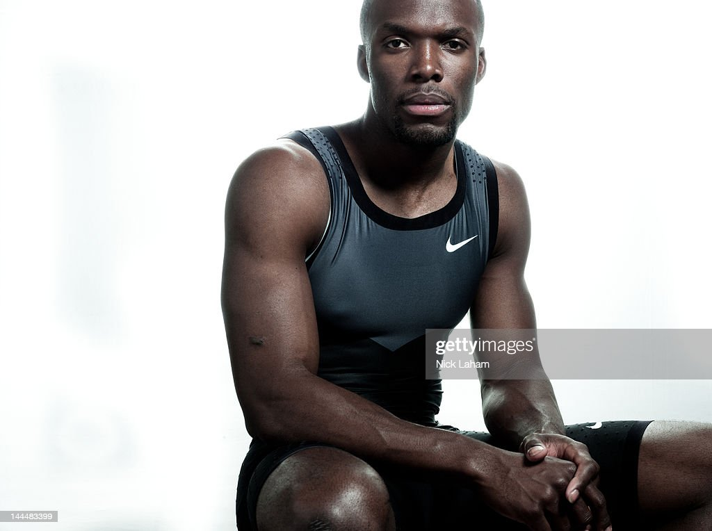 Track athlete, Lashawn Merritt, poses for a portrait during the 2012 Team USA Media Summit on May 14, 2012 in Dallas, Texas.