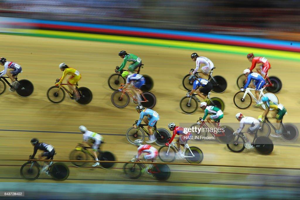 Track Cycling World Championships Championnats du monde UCI de cyclisme sur piste Saint Quentin en Yvelines France Women's Scratch Final Photo Fred...