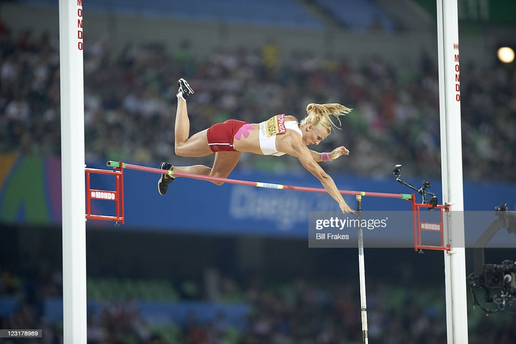 Poland <a gi-track='captionPersonalityLinkClicked' href=/galleries/search?phrase=Anna+Rogowska&family=editorial&specificpeople=790729 ng-click='$event.stopPropagation()'>Anna Rogowska</a> in action during Women's Pole Vault Final at Daegu Stadium. Bill Frakes F19 )