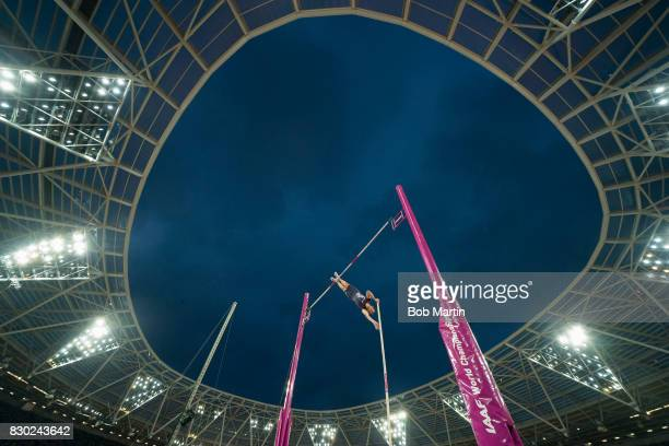 16th IAAF World Championships France Renaud Lavillenie during Men's Pole Vault at Olympic Stadium London England 8/8/2017 CREDIT Bob Martin