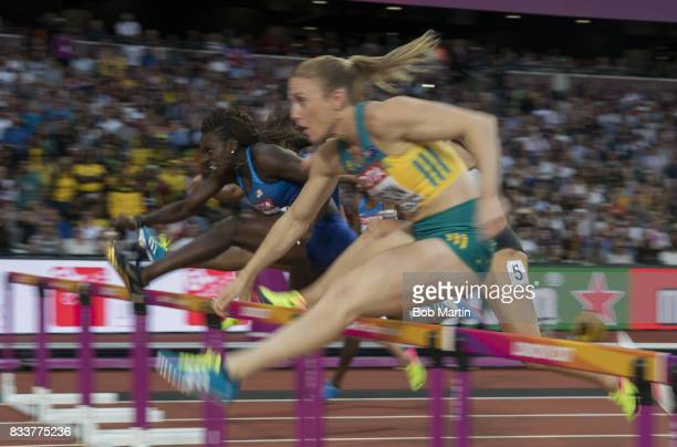 16th IAAF World Championships USA Dawn HarperNelson in action during Women's 100M Hurdles at Olympic Stadium London England 8/12/2017 CREDIT Bob...