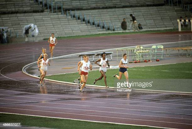 1968 Summer Olympics USA Madeline Manning in action during Women's 800M race at Estadio Olimpico Mexico City Mexico CREDIT Neil Leifer