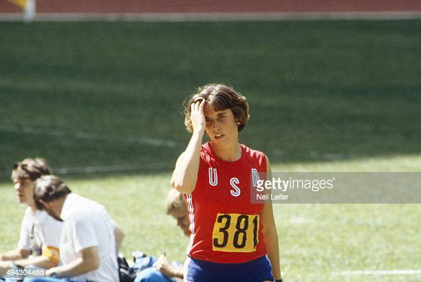 1976 Summer Olympics USA Kate Schmidt during Women's Javelin at Olympic Stadium Montreal Canada 7/23/1976 7/24/1976 CREDIT Neil Leifer