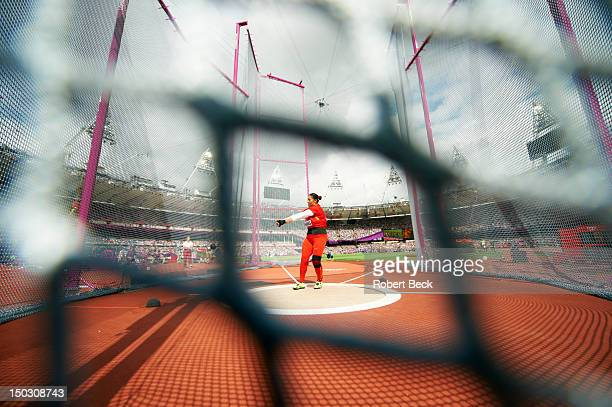 2012 Summer Olympics China Zhang Wenxiu in action during Women's Hammer Throw Qualification at Olympic Stadium London United Kingdom 8/8/2012 CREDIT...