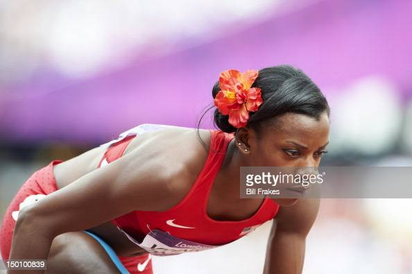 2012 Summer Olympics Closeup of USA Alysia Johnson Montano during Women's 800M Heats at Olympic Stadium London United Kingdom 8/8/2012 CREDIT Bill...