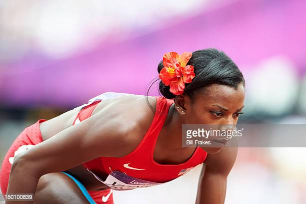2012 Summer Olympics Closeup of USA Alysia Johnson Montano during Women's 800M Heats at Olympic Stadium London United Kingdom 8/8/2012 CREDIT Bill...