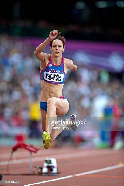 2012 Summer Olympics Slovakia Dana Veldakova in action during Women's Triple Jump Final at Olympic Stadium London United Kingdom 8/5/2012 CREDIT...
