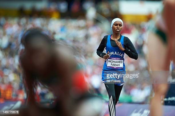 2012 Summer Olympics Somalia Zamzam Mohamed Farah in action during Women's 400M Round 1 at Olympic Stadium London United Kingdom 8/3/2012 CREDIT Bill...