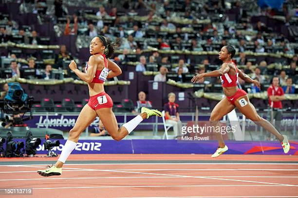 2012 Summer Olympics USA Allyson Felix in action during Women's 200M Final at Olympic Stadium Felix wins gold London United Kingdom 8/8/2012 CREDIT...