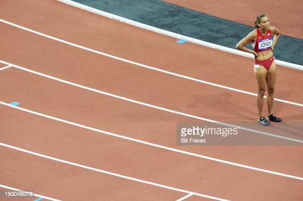 2012 Summer Olympics USA Lolo Jones upset after Women's 100M Hurdles Final at Olympic Stadium London United Kingdom 8/7/2012 CREDIT Bill Frakes