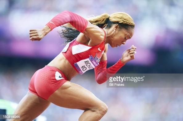 2012 Summer Olympics USA Sanya RichardsRoss in action during Women's 400M Semifinals at Olympic Stadium London United Kingdom 8/4/2012 CREDIT Bill...