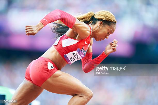 2012 Summer Olympics USA Sanya RichardsRoss in action during Women's 400M Semifinals at Olympic Stadium London United Kingdom 8/4/2012 CREDIT Bill...