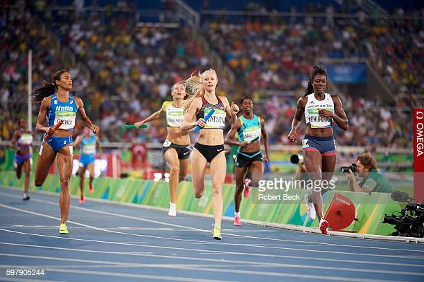 2016 Summer Olympics Canada Sage Watson in action during Women's 4x400M Relay Round 1 at Rio Olympic Stadium Rio de Janeiro Brazil 8/19/2016 CREDIT...
