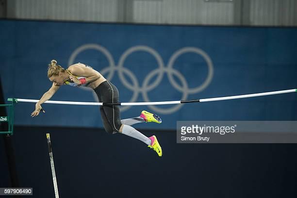 2016 Summer Olympics Germany Lisa Ryzih in action during Women's Pole Vault Final at Rio Olympic Stadium Rio de Janeiro Brazil 8/19/2016 CREDIT Simon...