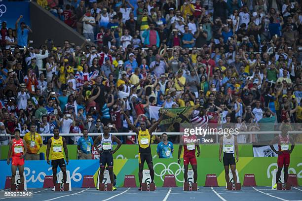 2016 Summer Olympics Japan Yoshihide Kiryu Saint Lucia Jahvid Best Great Britain James Dasaolu Jamaica Usain Bolt Trinidad Tobago Richard Thompson...