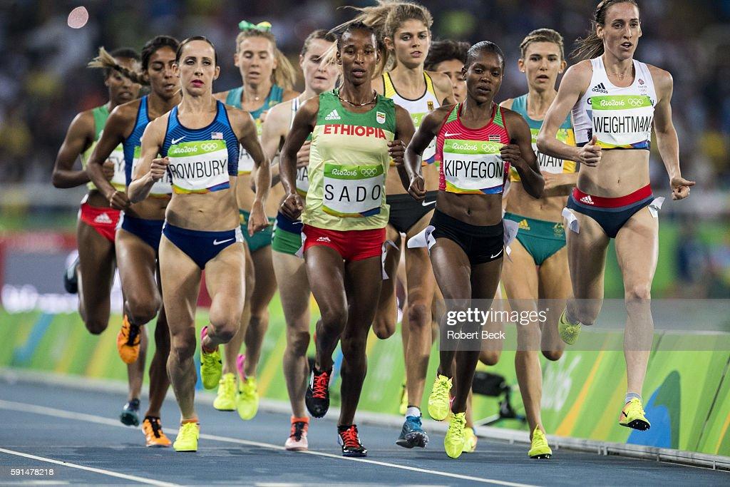 2016 Summer Olympics USA Shannon Rowbury Ethiopia Besu Sado Kenya Faith Chepngetich Kipyegon Great Britain Laura Weightman and runners in action...