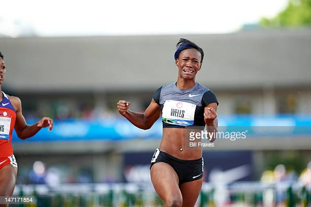 US Olympic Trials Kellie Wells after Women's 100M Hurdles Finals at Hayward Field Eugene OR CREDIT Bill Frakes