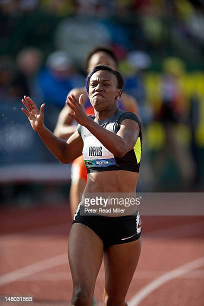 US Olympic Trials Kellie Wells in action during Women's 100M hurdles final at Hayward Field Day 2 Eugene OR CREDIT Peter Read Miller