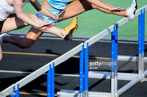 Track hurdle race.