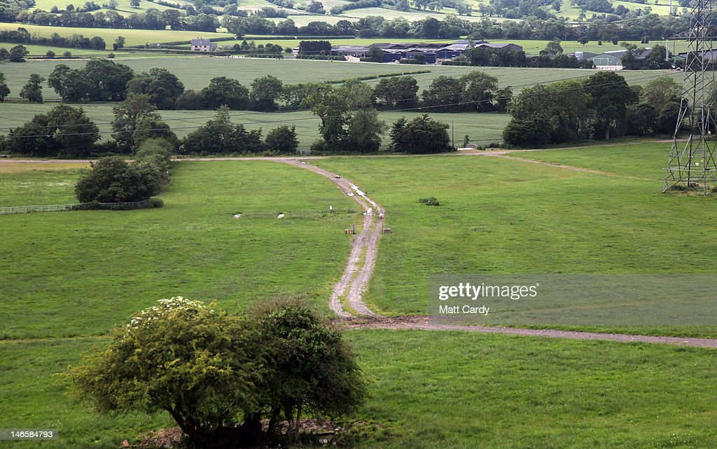 A track passes through fields which would normally be used for camping at the Glastonbury Festival site at Worthy Farm, Pilton on June 20, 2012 near Glastonbury, England. Today would have been the day that the gates would have opened for what has become Europe's biggest music festival, but because of the London 2012 Olympics it was decided by the organisers to take this year off. However, this week it was announced that the festival - which started in 1970 when several hundred festival-goers paid 1 GBP to watch Marc Bolan and has now attracts more than 175,000 people over five days - will feature in a mosh-pit style tribute in the opening ceremony of the London 2012 Olympic Games. The Festival will return in June 2013.